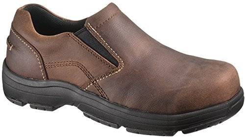 Hytest Static Dissipating Composite Toe Twin Gore Slip On (11 M, Brown)