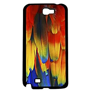 Red Parrot Feathers Hard Snap On Case (Galaxy Note 2 II) by icecream design