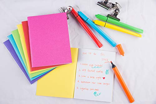 Blank Book - 48-Pack Colorful Notebooks, Unlined Plain Travel Journals for Students, Kids Diaries, Creative Writing Projects, 6 Assorted Colors, 4.25 x 5.5 Inches, 24 Sheets by Paper Junkie (Image #1)