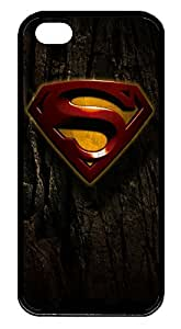 custom iphone iphone 5 5s case, Rock background Superman logo diy iphone 5 5s case,TPU Material,Drop Protection,Shock Absorbent