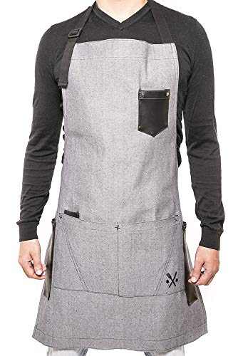 APRON for men & women chef, useful multifunctional pockets, ideal for bbq, grill, kitchen or restaurants, the coolest inexpensive gift for grilling dads, - Everything Apron