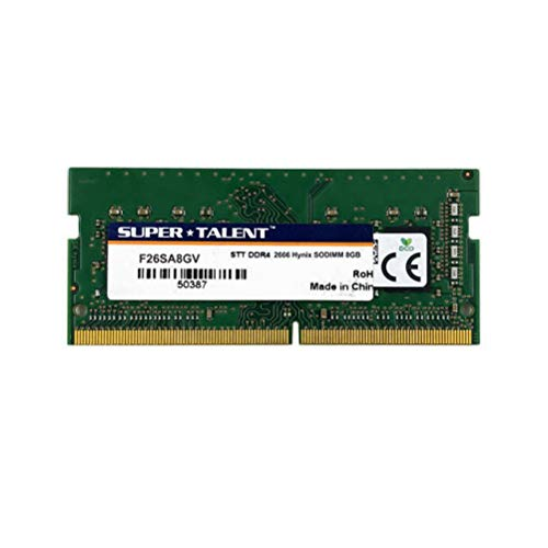 Super Talent DDR4-2666 SODIMM 8GB Notebook Memory PC Memory F26SA8GV
