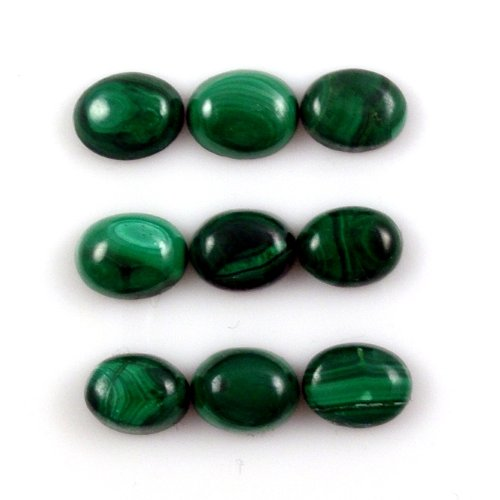 Malachite Oval 8x6mm Approximately 19 Carat(2120) (Oval Malachite)