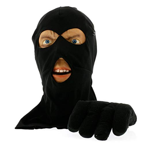 Scary Peeper Halloween Decoration-Burglar Prank Face and Hand Look Alike