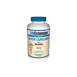 Life Extension Super Curcumin with Bioperine 800mg Capsule, 60-Count