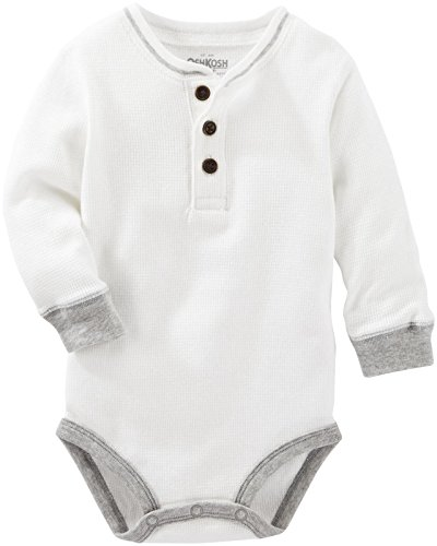 OshKosh B'gosh Baby Boys Knit Bodysuit 11479312, White, 9M