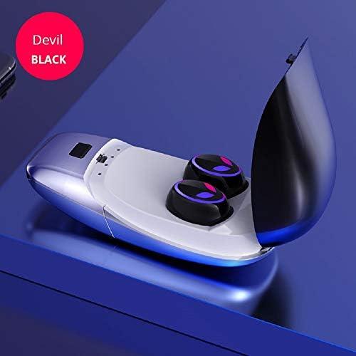 Chennong AYD True BluetoothステレオヘッドフォンTWSワイヤレスインイヤーイヤホン(充電ボックス付き、スポーツ用) (Color : Black)