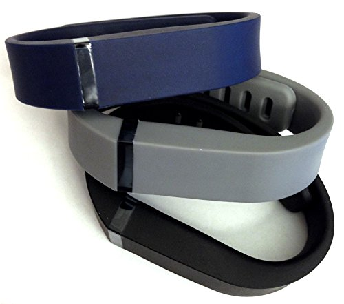 Set 3 Colors Small S 1pc Grey 1pc Navy Blue 1pc Black Replacement Bands With Clasp for Fitbit FLEX Only /No tracker/ Wireless Activity Bracelet Sport Wristband Fit Bit Flex Bracelet Sport Arm Band Armband