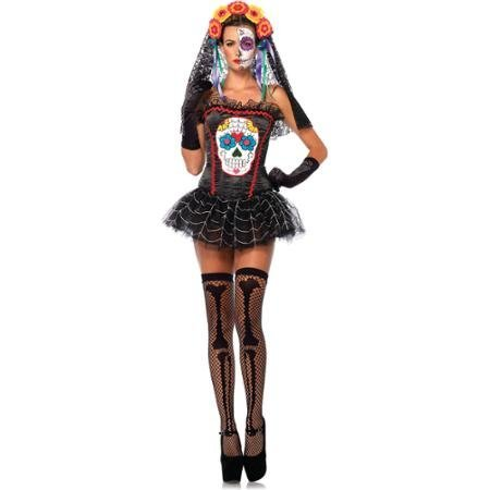 Sugar Skull Bustier Adult Halloween Costume WLM