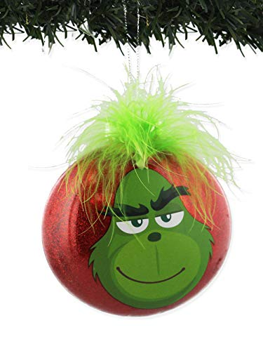 Kurt Adler The Grinch Red Disc Ornament Plastic Home Decor