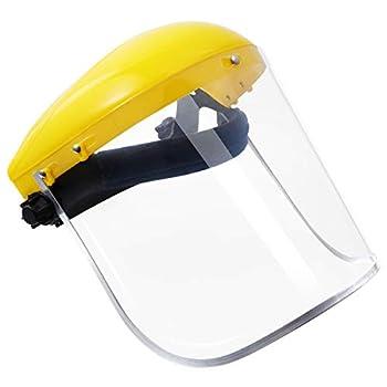 VOSAREA máscara de protección Facial para Ventana máscara de Pulido de Lentes de PVC de Seguridad (Amarillo) Uncategorized
