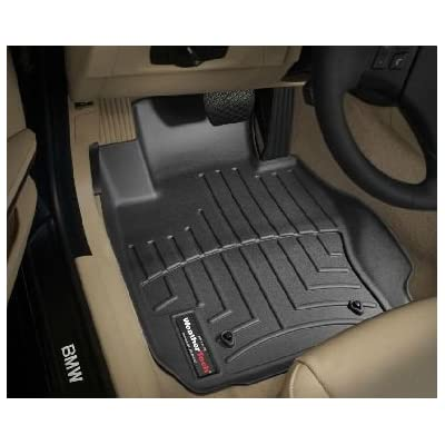 2007-2011 BMW 3 Series (E90/E91/E92/E93) Black WeatherTech Floor Liner (Full Set) [Sedan; All Wheel Drive]
