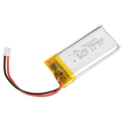 uxcell Power Supply DC 3.7V 750mAh 752245 Li-ion Rechargeable Lithium Polymer Li-Po (750 Mah Lithium Battery)