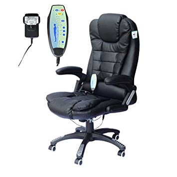 Homcom Deluxe Reclining Faux Leather Office Computer Chair Point - Computer chair uk