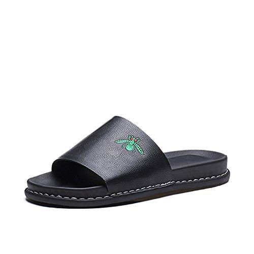 ZPPZZP Mme sandales l'été plat ventilé loisir noir 38EU