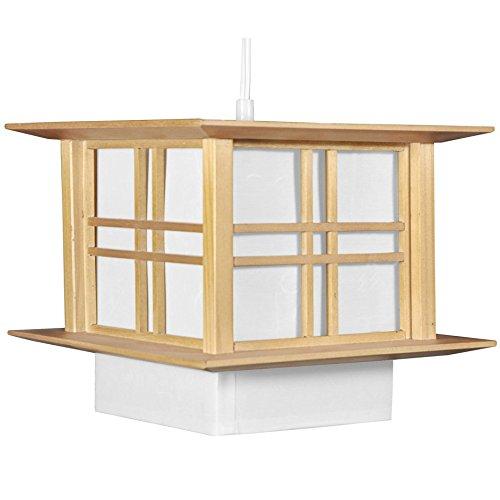 Oriental Furniture Akida Hanging Lamp - Natural