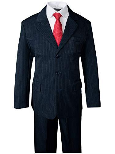 Spring Notion Big Boys' Pinstripe Suit Set Navy-Red ()