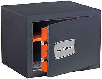 Brihard Protector P25K Caja Fuerte con Cerradura de Tambor Doble 25x35x25cm (HxWxD), Gris Titanio: Amazon.es: Industria, empresas y ciencia