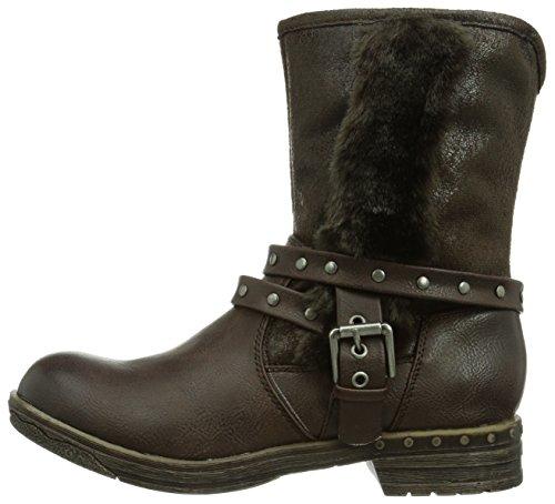 Damen Brown Boots HW140403 München Biker Laufsteg Braun Dark w0OCHxnqE