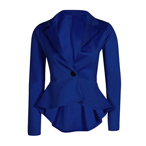 Koly Fit gala donne Blu Maiusc Blazer Slim Crop Nuove peplo pwpBTRqZ