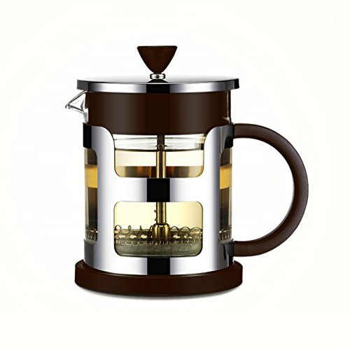 GuDoQi French Press Coffee Maker 304 Stainless Steel Double Heat Resistant Glass 21 Oz Tea Makers for 3-4 Cups of Coffee or Tea by GuDoQi-KT