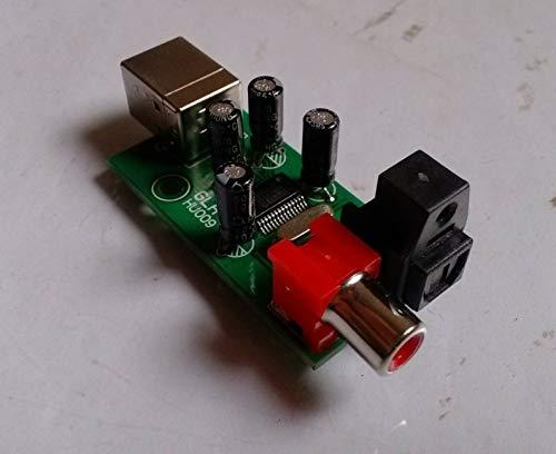 - Lysee HI-FI USB Sound- Card PCM2903 USB to Coaxial Fiber Digital Conversion