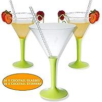 36 Vaso de Martini de plástico | |