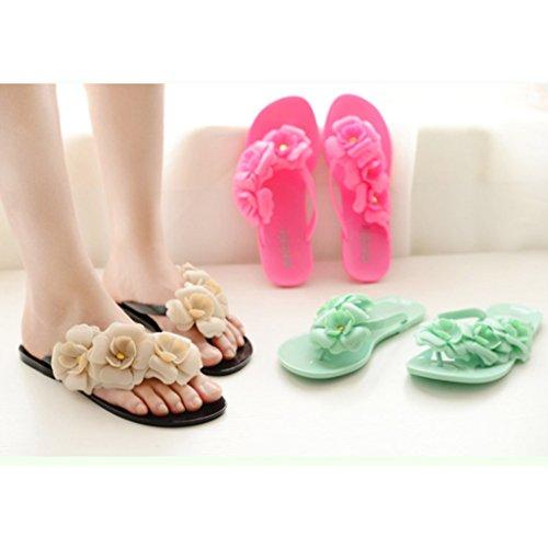 MagiDeal Zapato Plano de Mujeres Sandalias de Bohemia Zapatillas de Playa de Vacaciones 5 Colores y 6 Tallas Negro