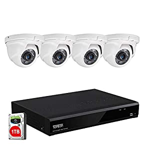 Tonton 8CH Full HD 5MP LITE Expandable Security Camera System, 5-in-1 Surveillance DVR with 1TB Hard Drive and (4) 2.0MP…