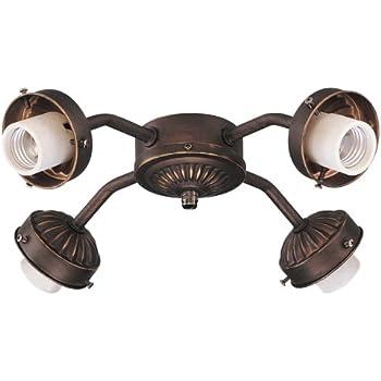 Monte Carlo Mc04 L 3 Light Fan Light Kit White Faux
