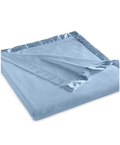 Martha Stewart Easy Care Soft Fleece Blanket (King, Blue Fog)
