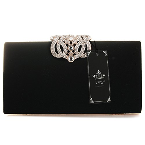 Clutches designer Fashion Bag Bag Bag Party Black Evening Womens and Luxury HYwPq8gCn
