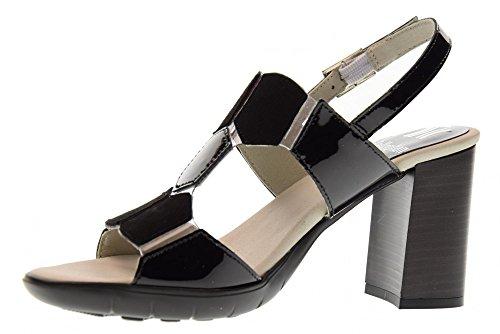 Talons Femme Sandales Chaussures À Black De 21206 Noir Callaghan I7qdASHI