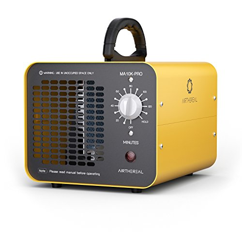 Airthereal MA10K-PRO Ozone Generator 10000 mg/h O3 Sterilizer Machine - Kill Virus Bacteria - Fireproof Tested by SGS, Yellow