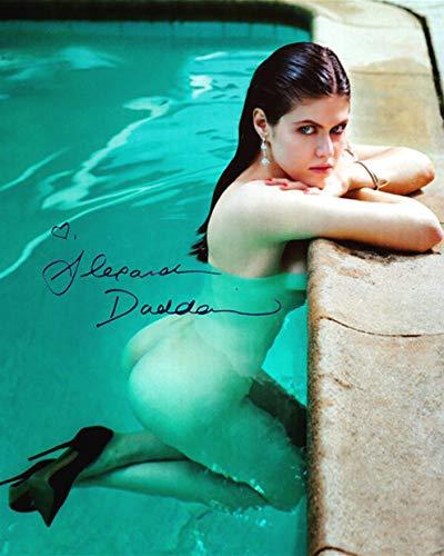 Alexandra Daddario Signed REPRINT 8x10 inch photograph Reprinted from Original