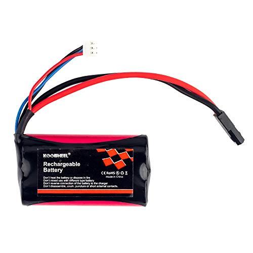 KOOWHEEL 7.4V 1500mAh RC Car Battery for BG - Li Poly Battery 7.4v