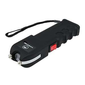 Vipertek VTS-989B V Mini Stun Gun Rechargeable with LED Flashlight (Black)