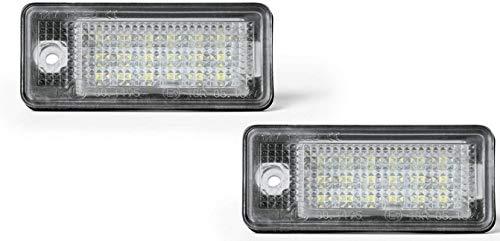 Luz LED para matr/ícula apta para A3//S3,A4//S4//RS4,A5,A6//C6,A8//S8,Q7 con resistencia de bus CAN.