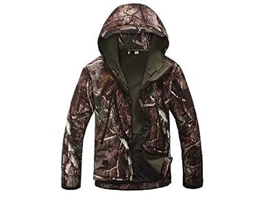 2015 Men Hunting Camouflage Clothing Waterproof Windproof Hood Jacket & Pants