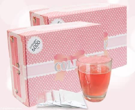 Colly Pink Collagen 6,000 Mg Dietary Supplements for White and Bright Skin 1 Box = 30 Sachets