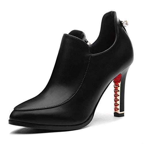 Nero Fuxitoggo Signore Da Nero Alte colore Moda Donna Con 35 Alla Scarpe Pizzo Dimensione Z6xqYZnUO