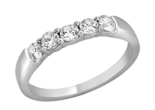 Jewel Ivy 14K White Gold Ring/Band with 0.50 Carat Diamond ( SI3-I1(GHI) ) Fine Jewelry, Best For Gifting Wife, Girlfriend, Friend by JEWEL IVY (Image #2)