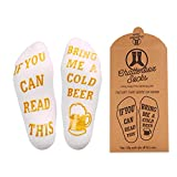 If You Can Read This Bring Me Socks - Luxury Premium Cotton - Perfect Host/Hostess or Gift Idea, Xmas, Birthday Present, Mother's or Father's Day