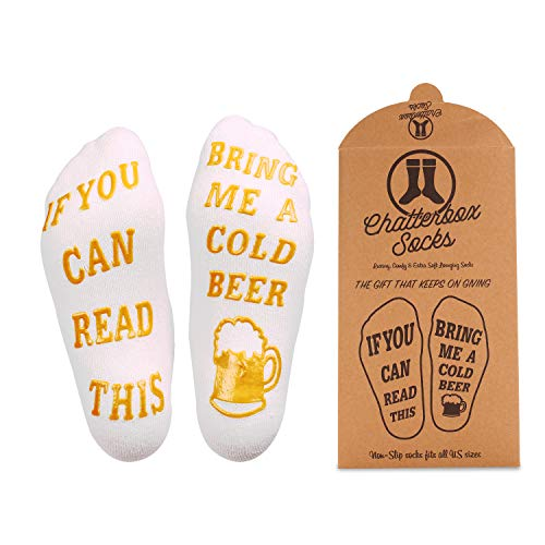 Gifts Day Fathers Beer (If You Can Read This Bring Me Socks - Luxury Premium Cotton - Perfect Host/Hostess or Gift Idea, Xmas, Birthday Present, Mother's or Father's Day)