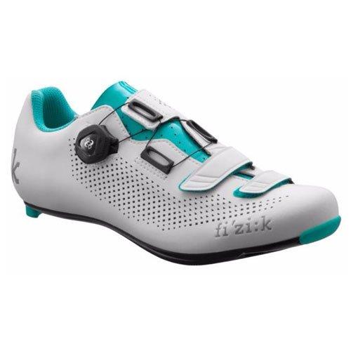 Fizik Women's R4 Donna BOA Road Cycling Shoes, White/Emerald Green, Size 40.5  White/Emerald Green