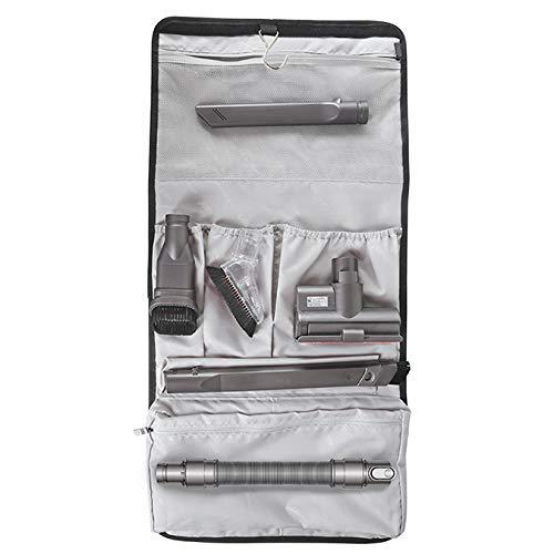 Iamagie Storage Bag Holder for Dyson Vacuum Cleaner DC62 V6 V7 V8 V10 Accessories Organizer Brush Attachment Dock Station Waterproof Multiple Pouches with Hook Hanger