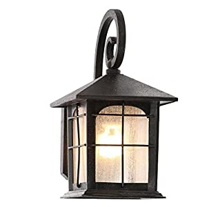 Home Decorators Collection Brimfield 1-Light Aged Iron Outdoor Wall Lantern