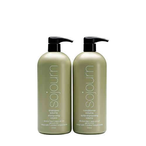 Sojourn Volume Shampoo and Conditioner Duo Set For Fine/Thinning/Flat Hair (975ml each), volumizing&moisturizing to deliver lustrous&healthy hair, sulfate/gluten/alcohol-free (Best Drugstore Shampoo For Shiny Hair)
