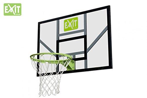 EXIT Galaxy Board+Ring+Netz 46.40.20.00 / Basketballrückwand mit Basketballkorb (Ring mit Netz) / Polycarbonat+Metall / 116 x 77 cm / 13,1 kg