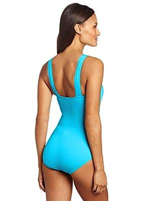 Speedo Women's Endurance+ Shirred Tank One-Piece Swimsuit